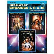 Alfred Star Wars: Episodes I, II & III Instrumental Solos Trombone Book & CD