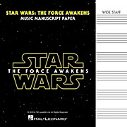 Hal Leonard Star Wars: The Force Awakens Manuscript Paper