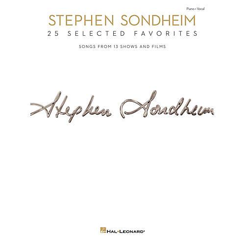 Hal Leonard Stephen Sondheim - 25 Selected Favorites for Piano/Vocal/Guitar-thumbnail