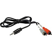 Hosa Stereo Y-cable Mini Male-Two RCA Males