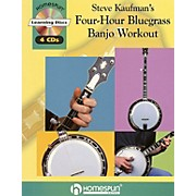 Homespun Steve Kaufman's Four-Hour Bluegrass Banjo Workout Homespun Tapes Series Softcover with CD