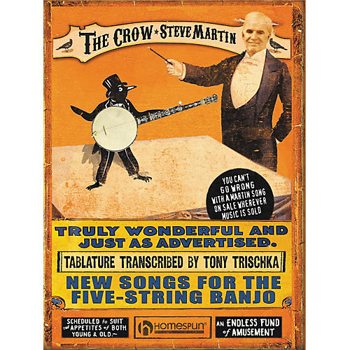 Hal Leonard Steve Martin - The Crow: New Songs for the 5-String Banjo (Tab book)-thumbnail