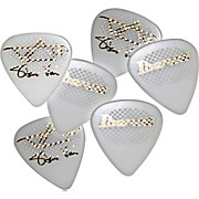 Ibanez Steve Vai White Signature Rubber Grip Picks 6-Pack