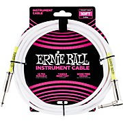 Ernie Ball Straight-Angle Instrument Cable - White