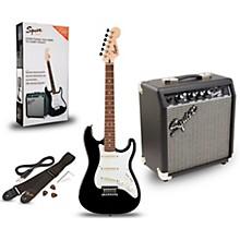 Squier Strat Pack SSS Electric Guitar with Fender Frontman 10G Combo Amplifier