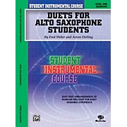 Alfred Student Instrumental Course Duets for Alto Saxophone Students Level I Book