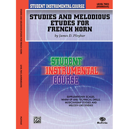 Alfred Student Instrumental Course Studies and Melodious Etudes for French Horn Level II-thumbnail