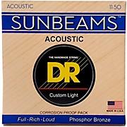 DR Strings Sunbeam Phosphor Bronze Medium Lite Acoustic Guitar Strings