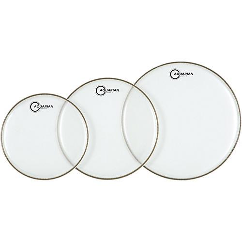 Aquarian Super-2 Clear Rock Drumhead Pack