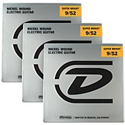 Dunlop Super Bright Light Nickel Wound 7-String Electric Guitar Strings (9-52) 3-Pack
