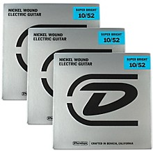 Dunlop Super Bright Light Top/Heavy Bottom Nickel Wound Electric Guitar Strings (10-52) 3-Pack