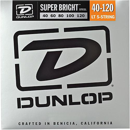 Dunlop Super Bright Steel Light 5-String Bass Guitar Strings-thumbnail