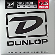 Dunlop Super Bright Steel Medium 4-String Bass Guitar Strings