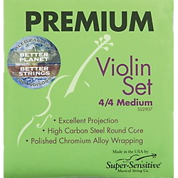Super Sensitive Premium 4/4 Size Violin Strings (2937)