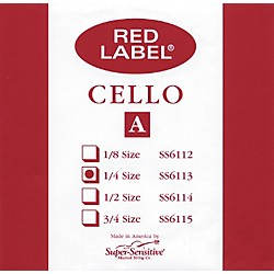 Super Sensitive Red Label Cello A String (6113)