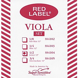 Super Sensitive Red Label Viola String Set (4104)