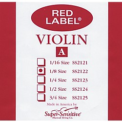 Super Sensitive Red Label Violin A String (2122)