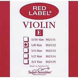 Super Sensitive Red Label Violin E String (2112)