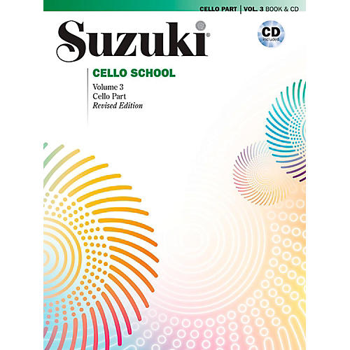 Suzuki Suzuki Cello School Book & CD Volume 3 (Revised)-thumbnail
