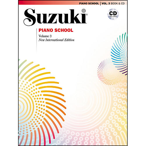 Suzuki Suzuki Piano School New International Edition Piano Book and CD Volume 3