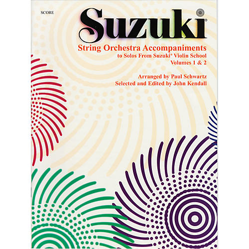 Alfred Suzuki String Orchestra Accompaniments to Solos from Volumes 1 & 2 Score Book-thumbnail