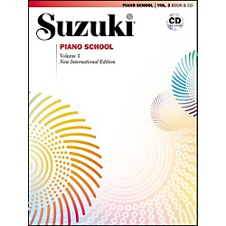Suzuki Suzuki Piano School New International Edition Piano Book and CD Volume 3 (00-30034)