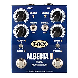 T-Rex Engineering Alberta II Dual Overdrive Guitar Effects Pedal (ALBERTA-II)