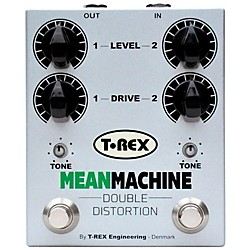 T-Rex Engineering Mean Machine Twin-Channel Distortion Guitar Effects Pedal (MEAN-MACHINE)