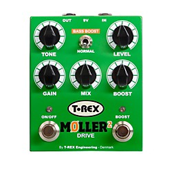T-Rex Engineering Moller 2 Overdrive Pedal With Clean Boost (MOLLER-2)