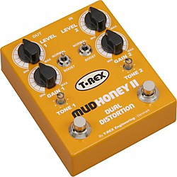 T-Rex Engineering Mudhoney II Distortion Guitar Effects Pedal (MUDHONEY-II  Â)