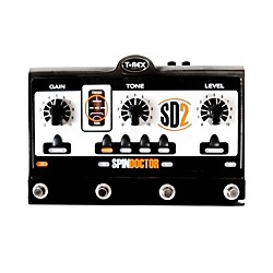 T-Rex Engineering SpinDoctor 2 Overdrive Preamp Guitar Effects Pedal (SPINDOCTOR-2)