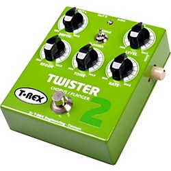 T-Rex Engineering Twister 2 Stereo Chorus and Flanger Guitar Effects Pedal (TWISTER 2 GREEN)