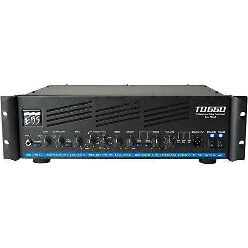 EBS TD660 660W Bass Guitar Amplifier Head-thumbnail