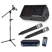 VocoPro TabletOke-Stage 200W Bluetooth Tablet Karaoke Package with Dual Wireless Mic