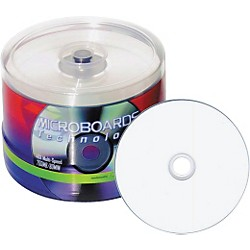 Taiyo Yuden 4.7GB DVD-R, 16X, White Inkjet-Printable, WaterShield coated, 50 Disc Spindle (DVD-WPPSB16-WS)