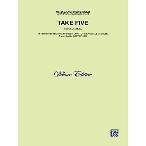 Alfred Take Five for Alto Sax The Dave Brubeck Quartet Book-thumbnail