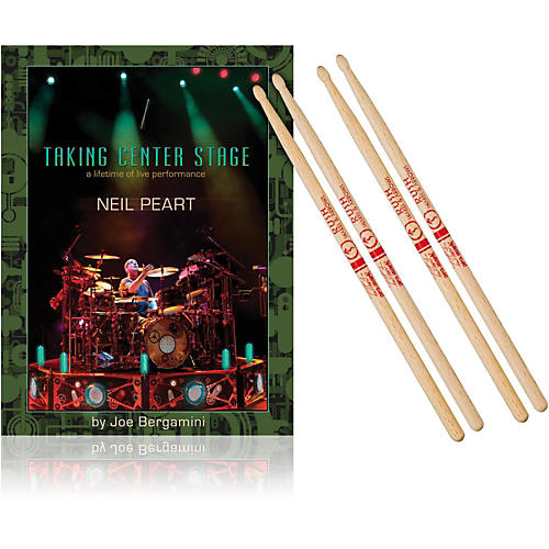 Hudson Music Taking Center Stage Book and Neil Peart Autograph Stick Pack-thumbnail
