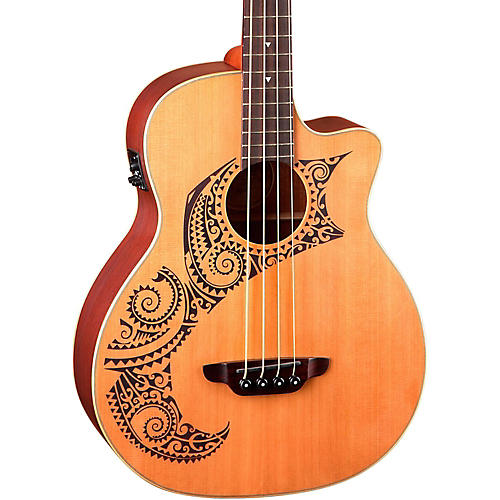 Luna Guitars Tattoo Cedar Acoustic-Electric Bass-thumbnail