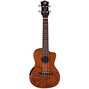 Luna Guitars Tattoo Concert Ukulele with Preamp