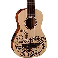 Luna Guitars Tattoo Ukulele Acoustic-Electric Bass