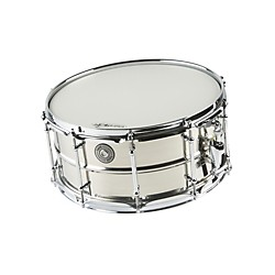 Taye Drums MetalWorks Stainless Steel Snare Drum with Vintage Style Tube Lugs (TST061465)