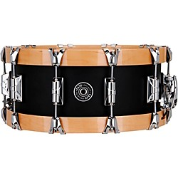 Taye Drums Specialty Aluminum Snare with Natural Wood Hoops (TS1406WN-6AL)