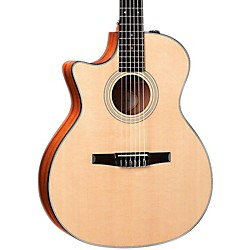 Taylor 2012 314ce-N-L Sapele/Spruce Nylon String Grand Auditorium Left-Handed Acoustic-Electric Guitar (314CE-N-L-2012)