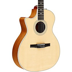 Taylor 2012 414ce-N-L Ovangkol/Spruce Nylon String Grand Auditorium Left-Handed Acoustic-Electric Guitar (414CE-N-L-2012)