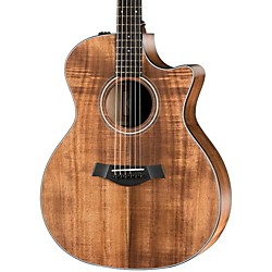 Taylor 2014 Fall LTD Grand Auditorium Cutaway All Koa Acoustic-Electric Guitar (324ce-K-FLTD)