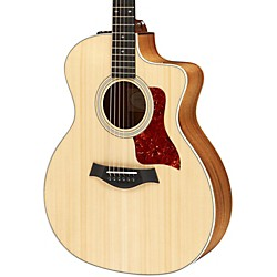 Taylor 214ce Deluxe Grand Auditorium Cutaway Acoustic Electric Guitar (214ce-K-DLX)