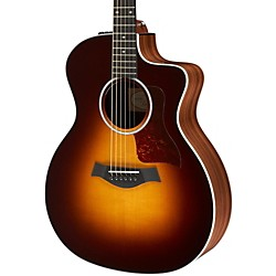 Taylor 214ce Deluxe Grand Auditorium Cutaway Acoustic Electric Guitar (214ce-SB-DLX)