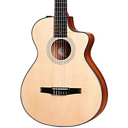 Taylor 312ce-N Sapele/Spruce Nylon String Grand Concert Acoustic-Electric Guitar (312CE-N-2012)