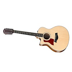 Taylor 456ce-L Ovangkol/Spruce Grand Symphony 12-String Left-Handed Acoustic-Electric Guitar (456CE-L-2012)
