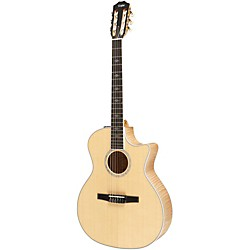 Taylor 614ce-N Maple/Spruce Nylon String Grand Auditorium Acoustic-Electric Guitar (USED004000 614CE-N-2012)